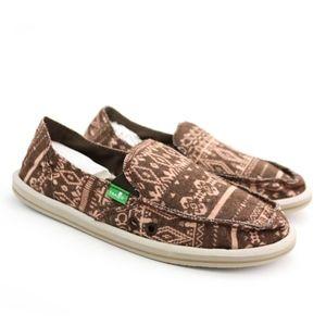 Sanuk Shoes - Sanuk Sidewalk Surfers Johanna Brown Pink Shoes